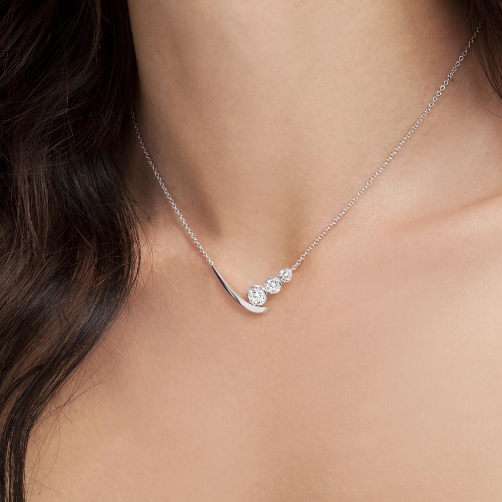 forever unique mio collana con diamanti IIDGR osigem