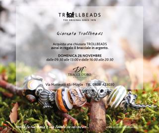 Invito giornata trollbeads 2017 maglie tracce d'oro