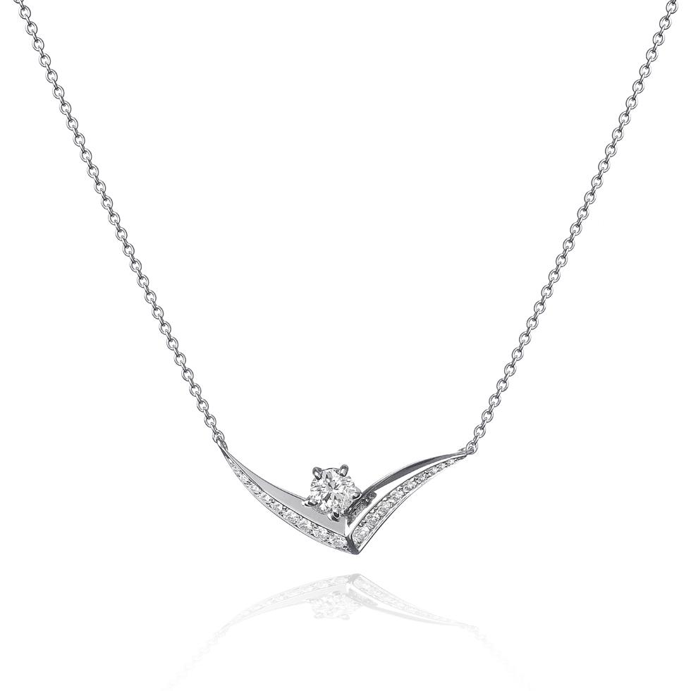 Collana di Diamanti Forever Unique Marea Linea Sinuo 2017 Gioielleria Tracce D'oro Maglie