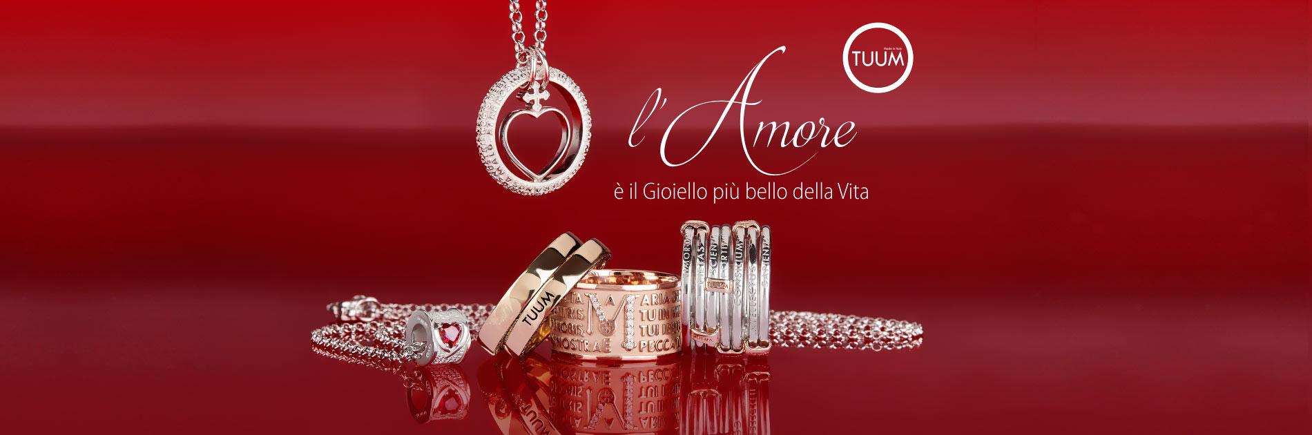 Tuum San Valentino Tracce d'oro gioielli maglie