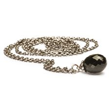 Collana d'argento con Onice Nero trollbeads
