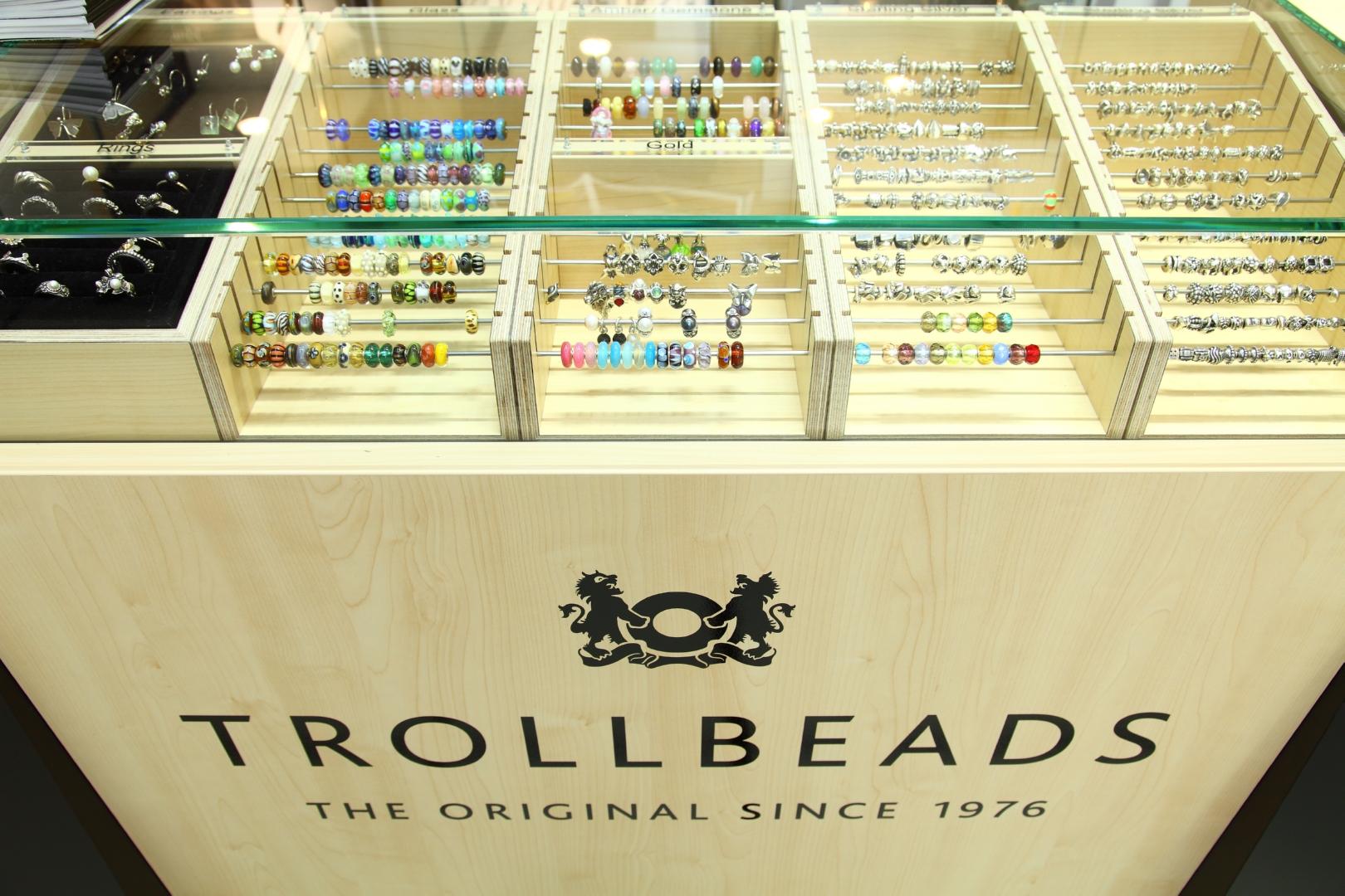 trollbeads tracce d'oro gioielli